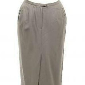 Skirt Women's 14 large gray maxi wool